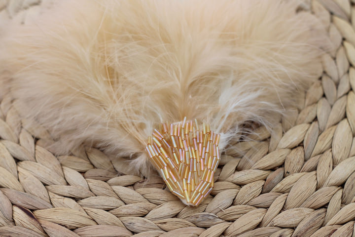 Feather and bead headdress (11)