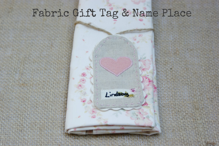 Fabric Gift Tag & Name Place