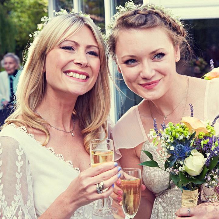 Wedding Flowers Solihull: 70's Wedding With Flower Crowns And Tipis