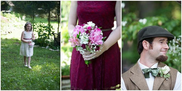 18 Backyard DIY Wedding in Massachusetts