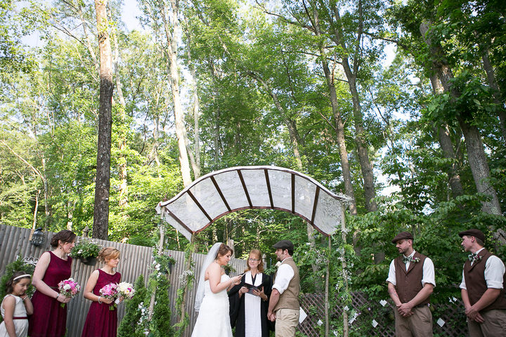 22 Backyard DIY Wedding in Massachusetts