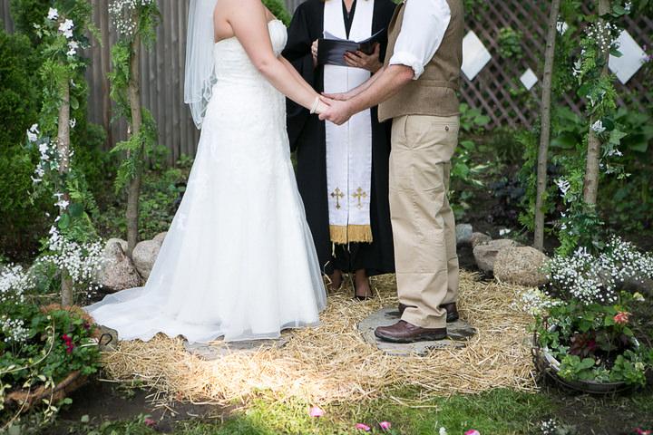Backyard DIY Wedding In Massachusetts By MCMD Photography