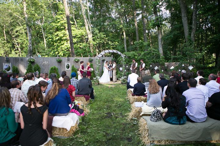 24 Backyard DIY Wedding in Massachusetts