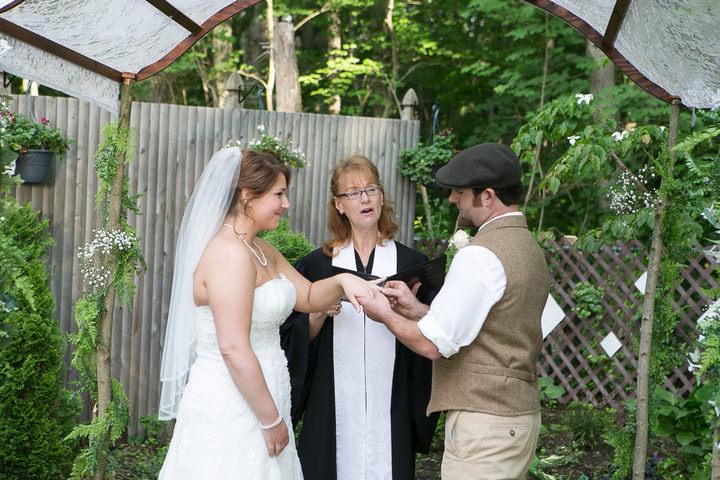 26 Backyard DIY Wedding in Massachusetts