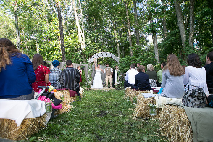28 Backyard DIY Wedding in Massachusetts