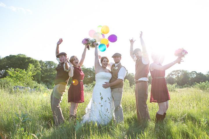 53 Backyard DIY Wedding in Massachusetts