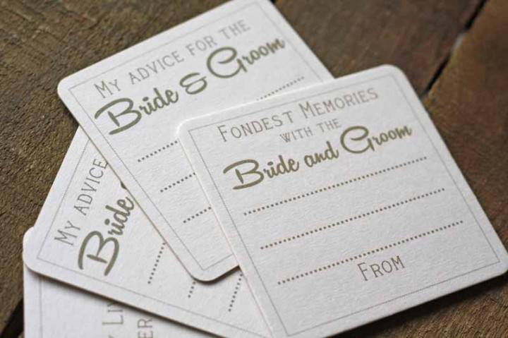 Advice for the bride and groom coasters £5 for 10 The Wedding of my Dreams (3)