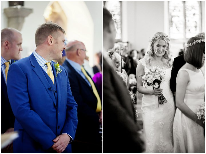 Yellow and Blue 16 Homemade Wedding Complete With Red Squirrels