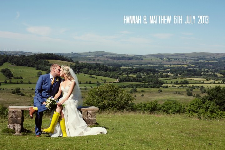 Yellow and Blue 1a Homemade Wedding Complete With Red Squirrels