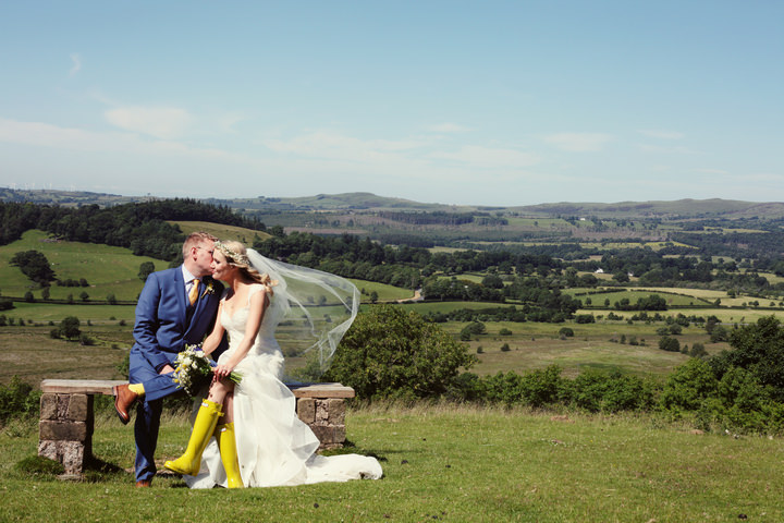 Yellow and Blue 22 Homemade Wedding Complete With Red Squirrels
