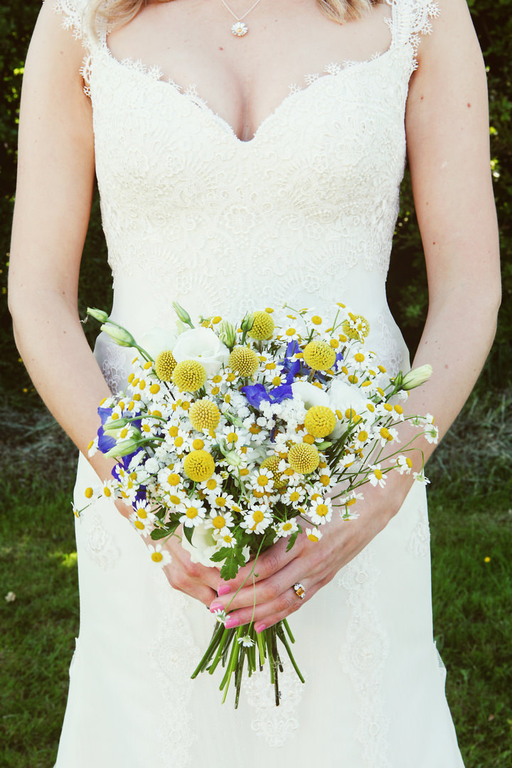Yellow and Blue 3 Homemade Wedding Complete With Red Squirrels