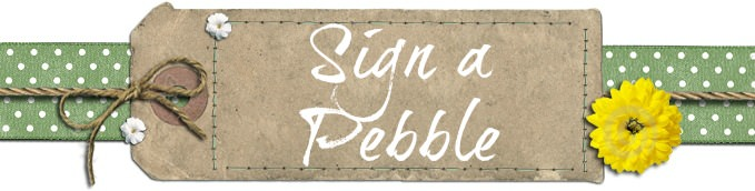 sign a pebble