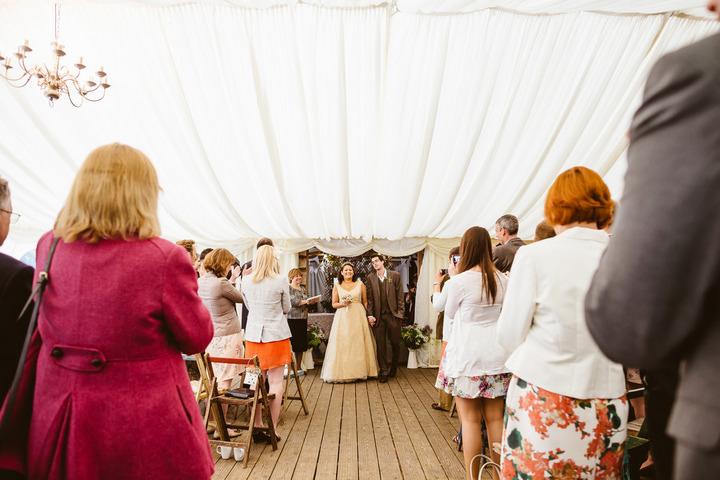 19 Handmade Wedding in The Woods Complete with Ferret Racing