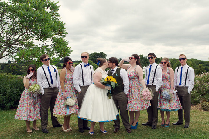 21 1950's Garden Party Wedding