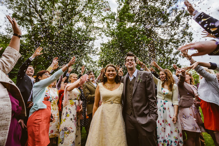 21 Handmade Wedding in The Woods Complete with Ferret Racing