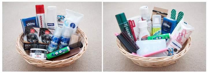 Boho loves pack it in the modern day gift hamper for Bathroom basket ideas for wedding