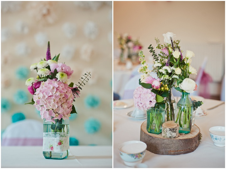Pink and blue homemade wedding in chester boho weddings