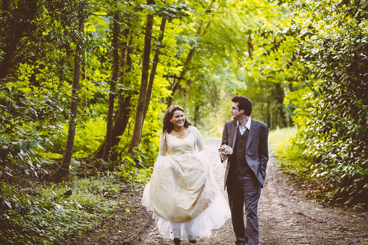 31 Handmade Wedding in The Woods Complete with Ferret Racing