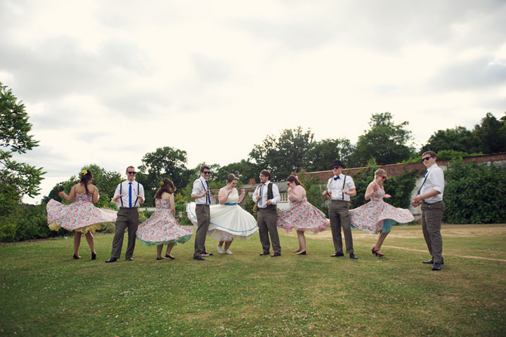 42 1950's Garden Party Wedding