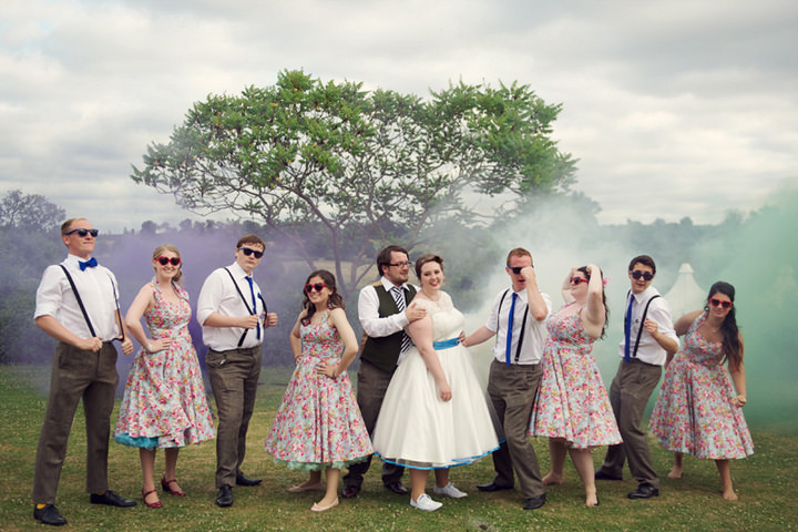 43 1950's Garden Party Wedding
