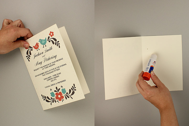 02 Fold And Glue To Make Thick Card   Free Rsvp Card Template