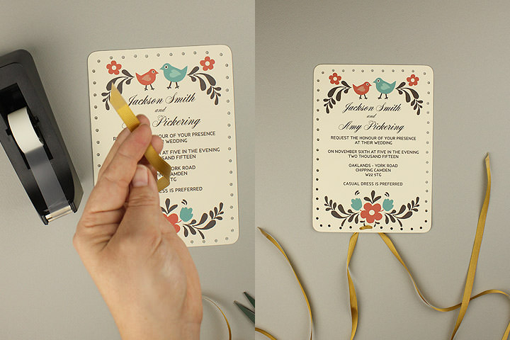 04 Tape Ribbon Ends And Lace Bottom First   Free Rsvp Card Template