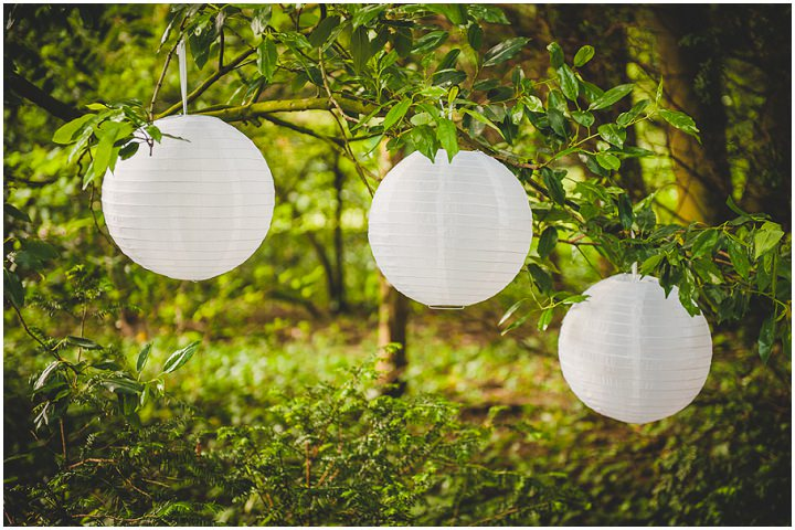 2. Love the light floaty white hanging lanterns in the trees. Outdoor details from your Hire Collection