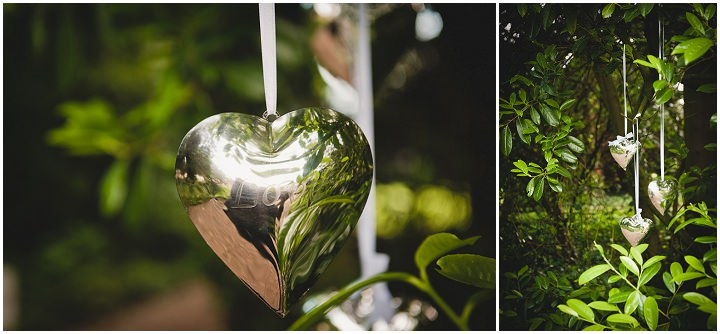 2. Outdoor styling here with polished silver heart details hanging in the trees