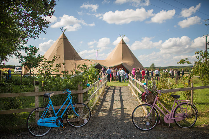3 Peach and Aqua Tipi Wedding By Binky Nixon