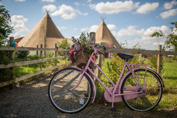38 Peach and Aqua Tipi Wedding By Binky Nixon