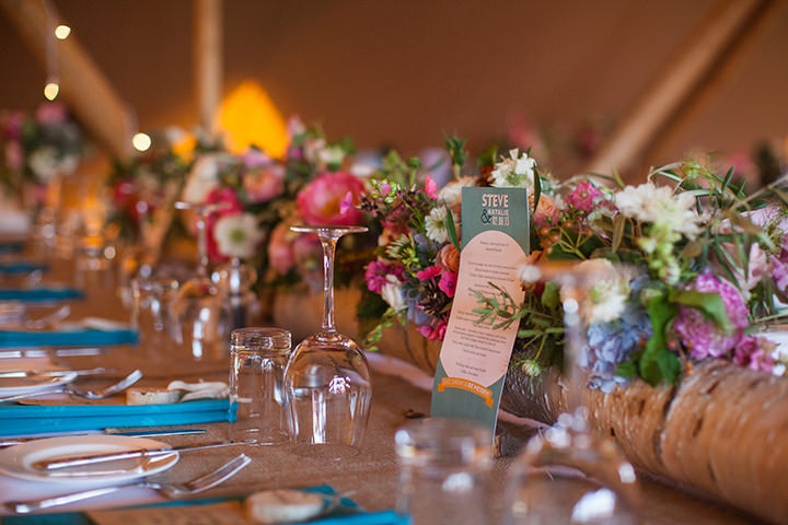 42 Peach and Aqua Tipi Wedding By Binky Nixon