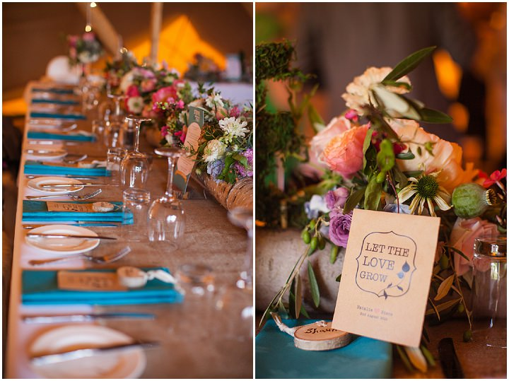 43 Peach and Aqua Tipi Wedding By Binky Nixon