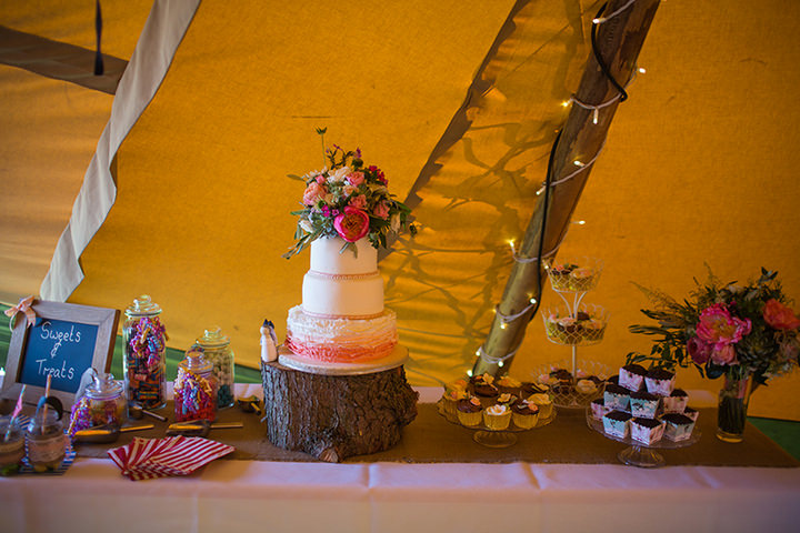 46 Peach and Aqua Tipi Wedding By Binky Nixon