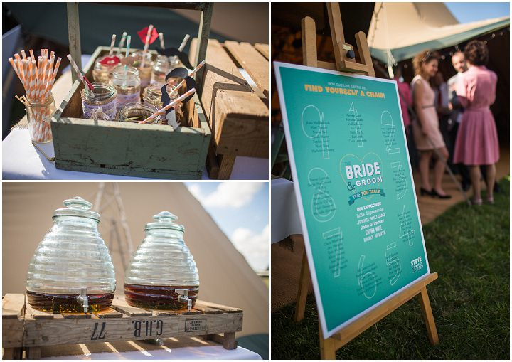 52 Peach and Aqua Tipi Wedding By Binky Nixon