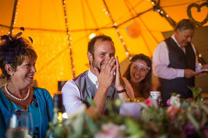 56 Peach and Aqua Tipi Wedding By Binky Nixon