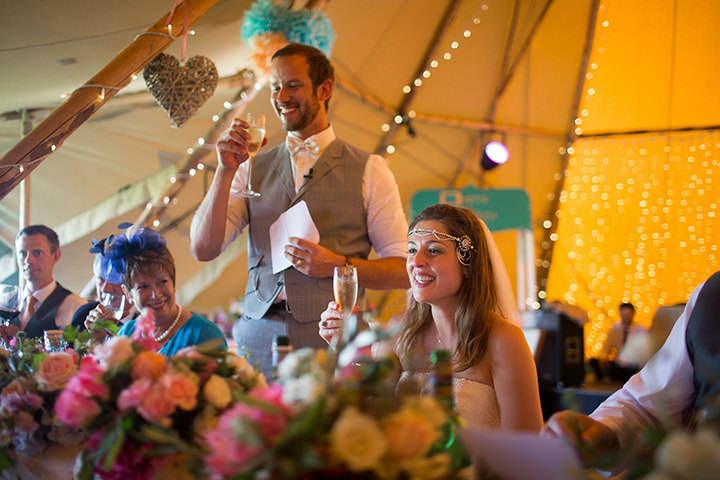 58 Peach and Aqua Tipi Wedding By Binky Nixon