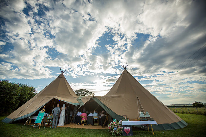 63 Peach and Aqua Tipi Wedding By Binky Nixon