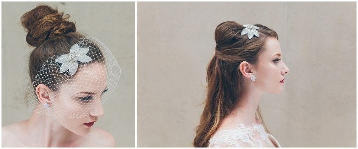 Juliet £75  and standard birdcage veil £30 with Juliet earrings £45 by Debbie Carlisle www.dcbouquets.co.uk (2)