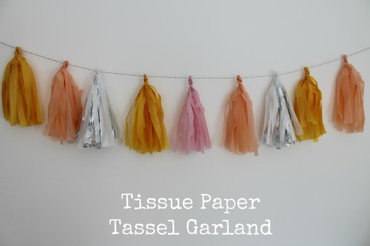 diy tutorial tissue paper tassel garland boho weddings