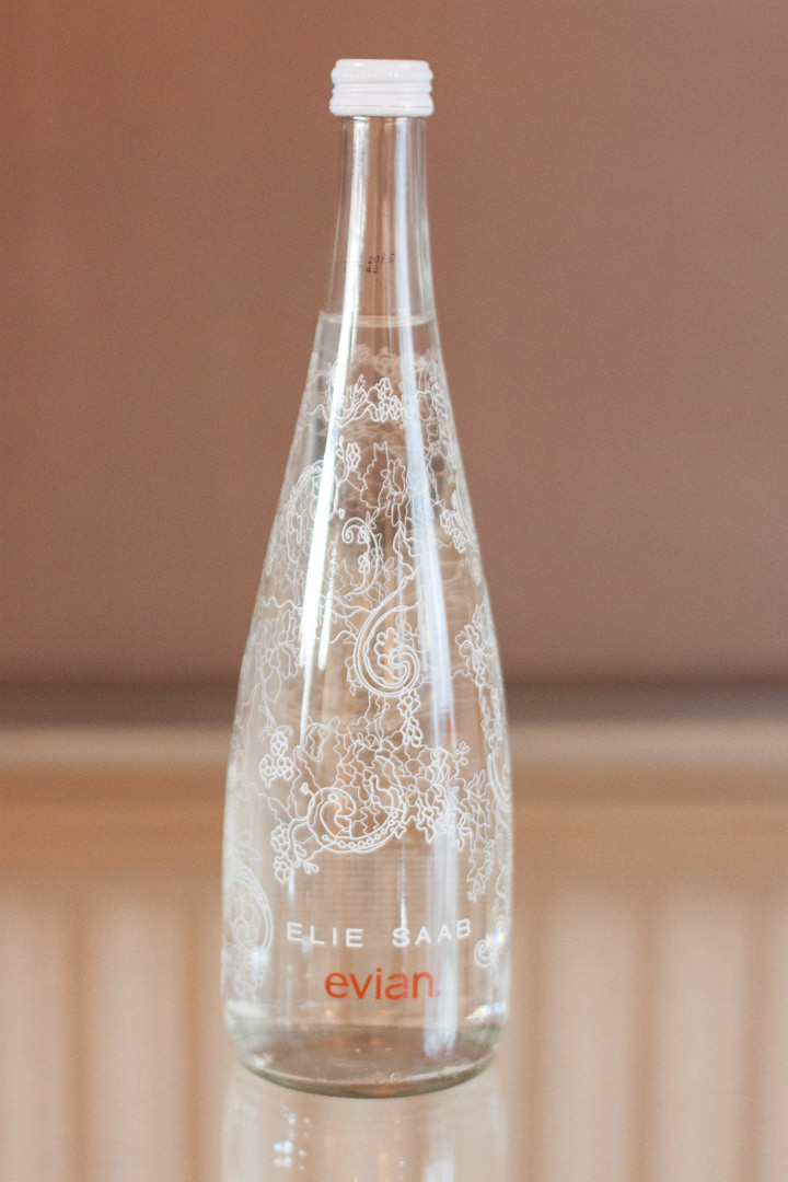 Win 3 Cases of this ELIE SAAB for Evian Water Bottle