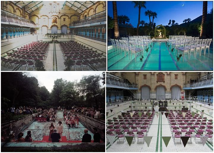 swimming pool wedding venue