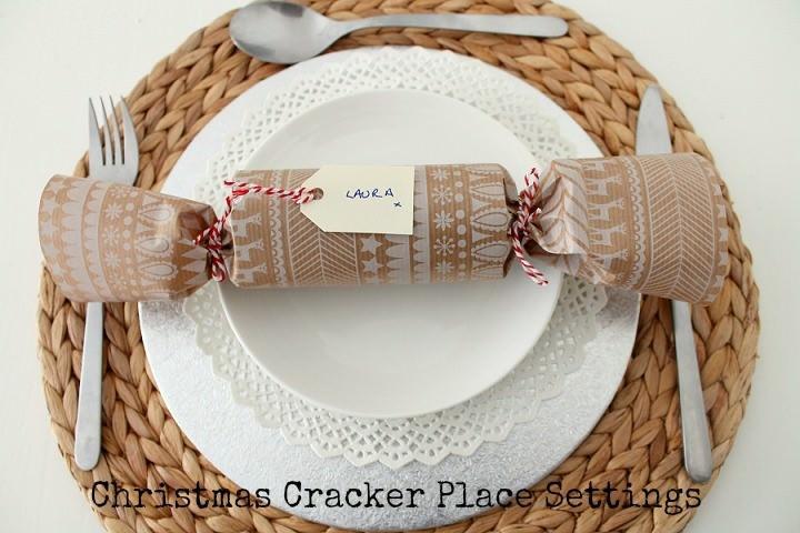 Christmas DIY Tutorial: Eco Friendly Christmas Cracker Place Settings
