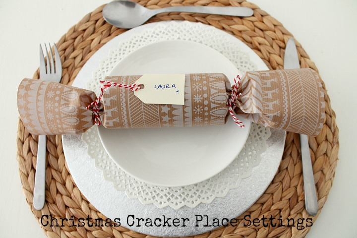 Christmas DIY Tutorial: Eco Friendly Christmas Cracker Place Settings