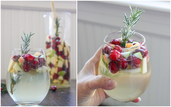 "Cranberry & Rosemary White ""Christmas"" Sangria 1"