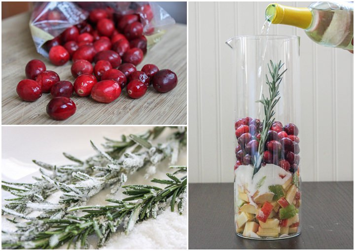 "Cranberry & Rosemary White ""Christmas"" Sangria 2"