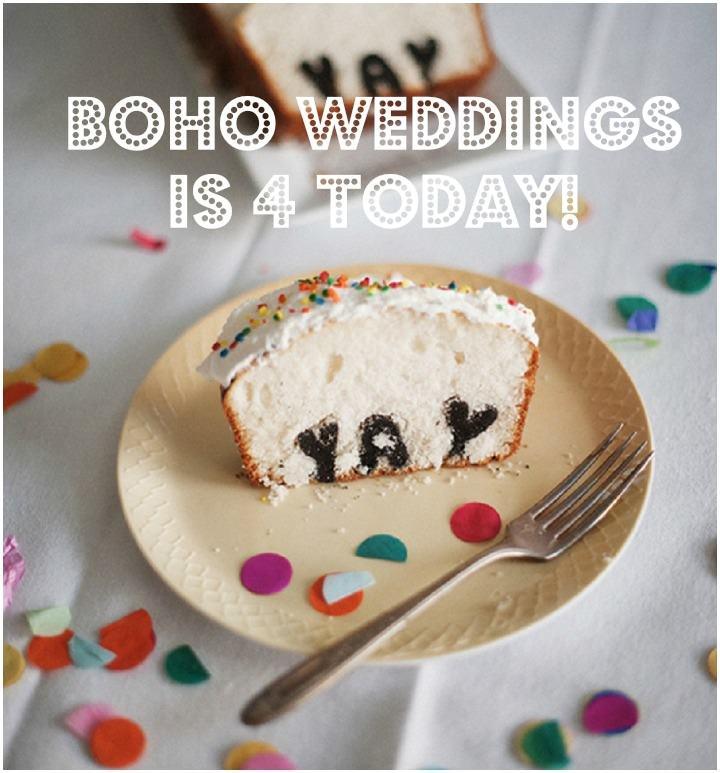 Boho Weddings is 4 Today!