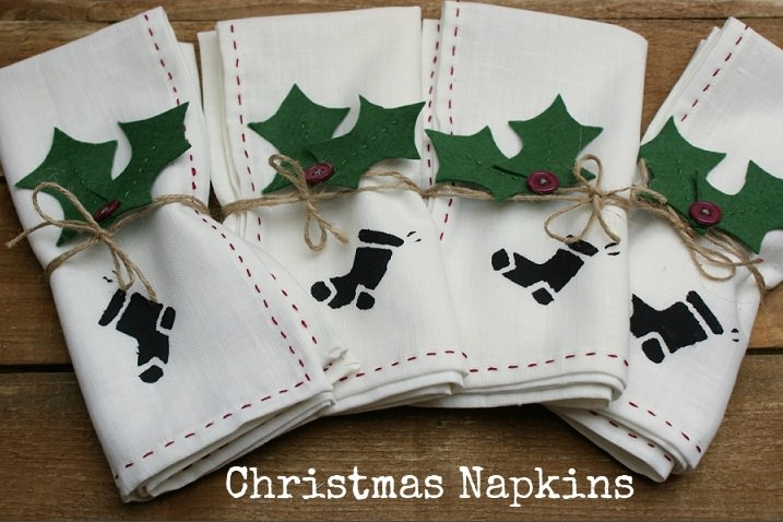 Christmas Napkins.Diy Tutorial Christmas Napkins Boho Weddings For The Boho