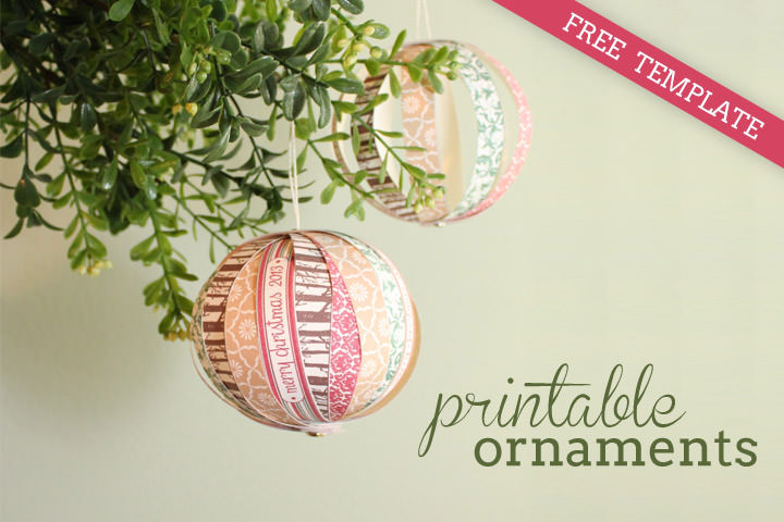 DIY Tutorial: FREE Printable Paper Christmas Ornaments