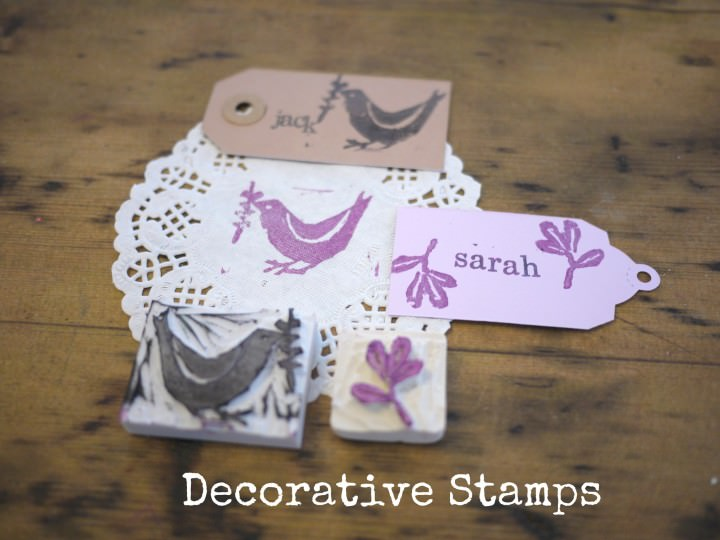Decorative Stamps Using Erasers