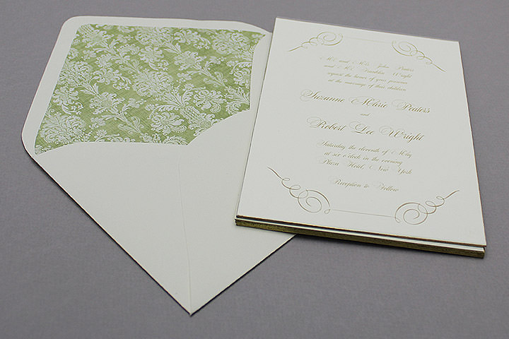 gilded edge invitations